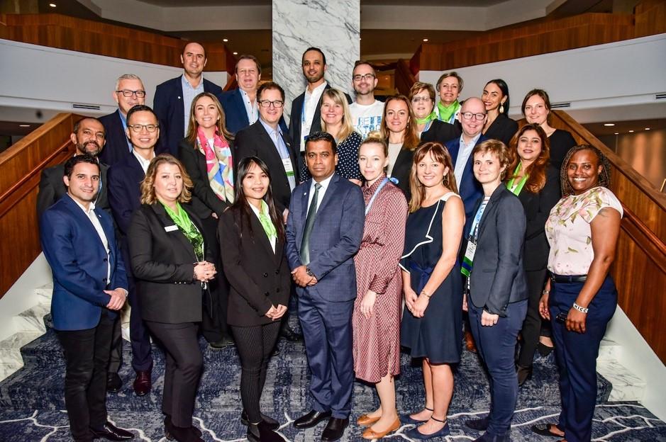 Autoridades de ICCA y Directores Regionales junto a los Presidentes y Vices de los Capítulos.