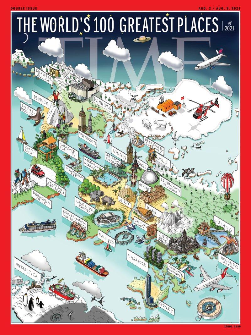 Argentina, Chile, Costa Rica, Ecuador, Mexico Y El Uruguay Entre Los Selecionados En La Lista De Los 100 Mejores Lugares Del Mundo 2021 De La Revista TIME